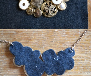 diy, necklace, and buttons image