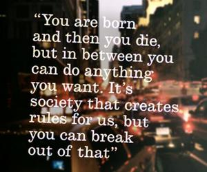 quote, life, and born image