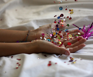 glitter and hands image