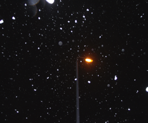 bokeh, snow, and winter image