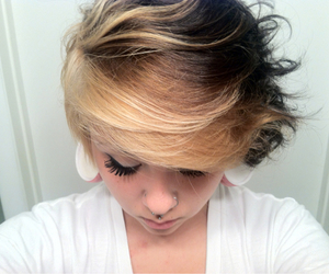 1, blonde, and earrings image
