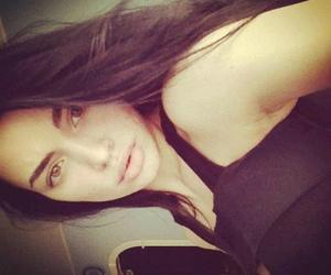 brunette, lips, and eyebrows image