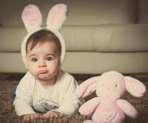 baby, bunny, and photography image