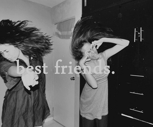 best friends, black and white, and nice image