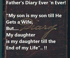 daughter, diary, and father image