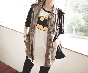 girl, batman, and fashion image