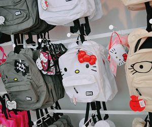 hello kitty, bag, and backpack image