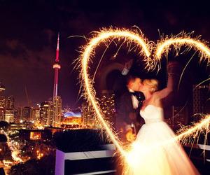 couple, heart, and wedding image