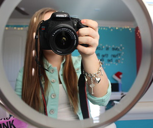 girl and canon image