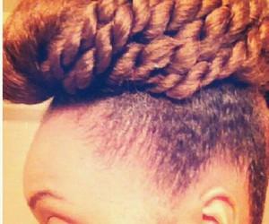 black woman, updo, and braids image