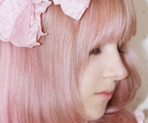 color hair, fashion, and pink hair image