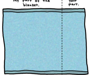 blanket, funny, and bed image