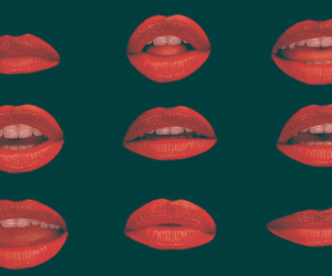 lips, red, and glee image