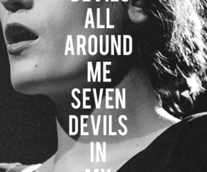 florence and the machine, Lyrics, and seven devils image