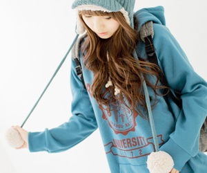 cute, blue, and asian image