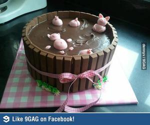 cake, fondant, and pigs image