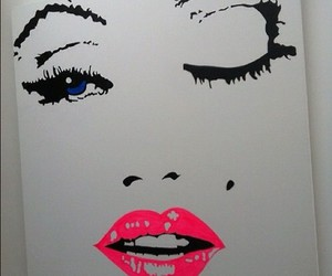 art, lips, and pink image