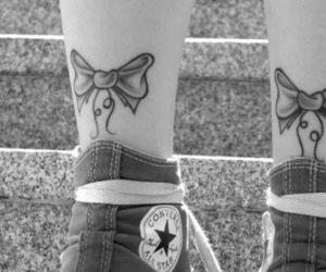 tattoo, converse, and bow image