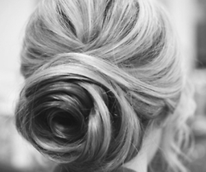 beautiful, up do, and blond image