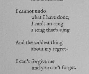 forgive, poem, and regret image