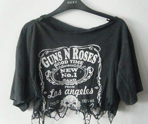 fashion, Guns N Roses, and black image