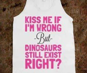 kiss, dinosaur, and fashion image