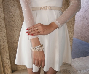girl, bracelet, and dress image