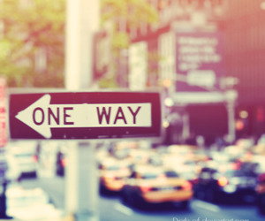 one way, new york, and street image