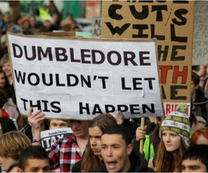 funny, harry potter, and dumbledoore image