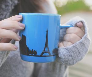 cup, paris, and blue image