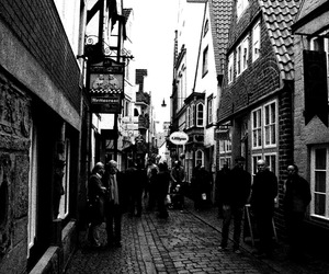 black and white, medieval, and photography image