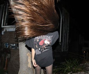 girl, hair, and metallica image