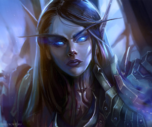 world of warcraft, dead knight, and blood elve image