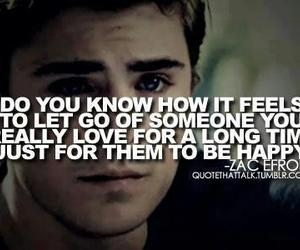 zac efron, quote, and let go image