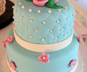 cake, pink, and blue image