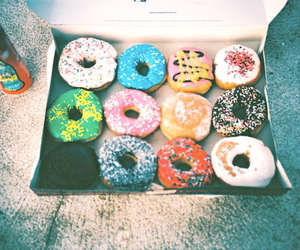 donuts, food, and vintage image