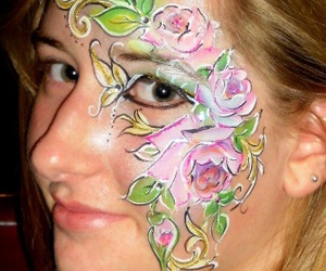 face painting, art, and flowers image