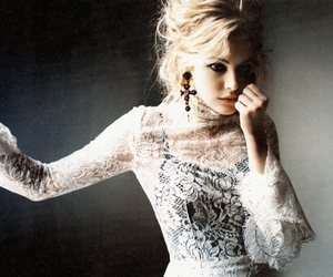 girl, blonde, and lace image