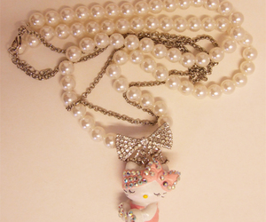 necklace, fashion, and hello kitty image