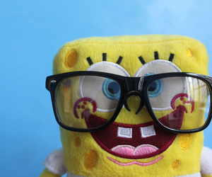 bob esponja, glasses, and nerd image