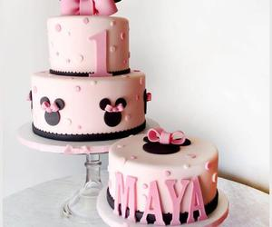 birthday cake, pink, and cute image