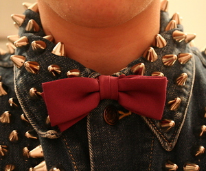 spikes, studs, and bow image