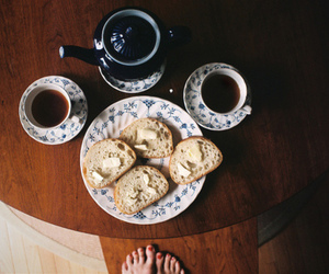 tea, food, and vintage image