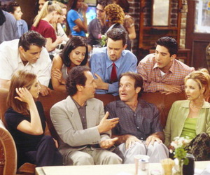 robin williams, friends, and chandler bing image
