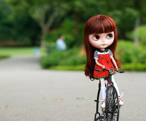 blythe, doll, and park image