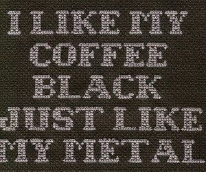 Black Metal, mindless self indulgence, and text image