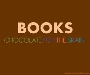 book, chocolate, and brain image
