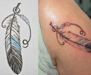feather, pretty, and tattoo image