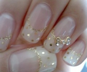 nails, bow, and gold image