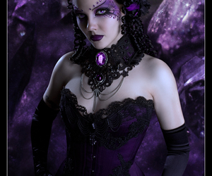 dark, amethyst, and beauty image